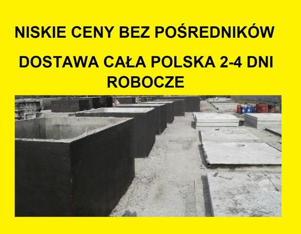 zbiorniki betonowe na deszczówkę betonowy szambo szamba 3,4,5,10,20m3