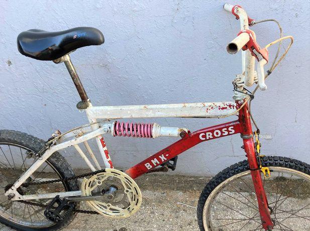 Bmx bicicleta antiga para restaurar, roda 20
