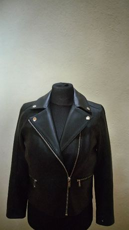 Karl Lagerfeld Extra kurtka  skorzana ramoneska  jagnięca skóra