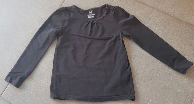 Bluzka na długi rękaw H&M, czarna, rozmiar 104