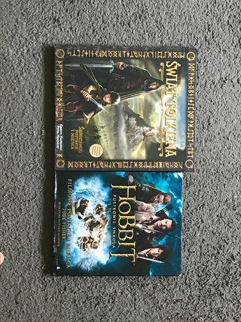 """Tolkien. """"Hobbit""""+""""Świat Tolkiena"""" 2 książki o tematyce tolkienowskiej"""