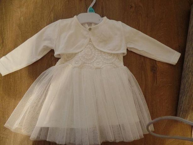 sukienka do chrztu z bolerkiem i butami
