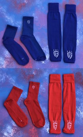 Гетры футбольные + носки GUL(черные)/комплект/обрезки/для футбола