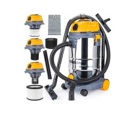 Odkurzacz przemysłowyPM-OD-30M FC1600W Sucho/Mokro OTRZĄSACZ filtr