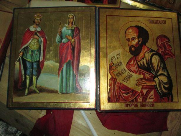 икона св.Наталия,Константин.масляними красками на доске 27х32см