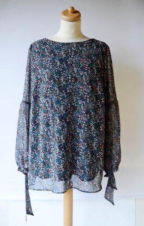 Bluzka Ciążowa H&M Mama Kwiaty XL 42 Nowa Ciąża Kwiatki Elegancka