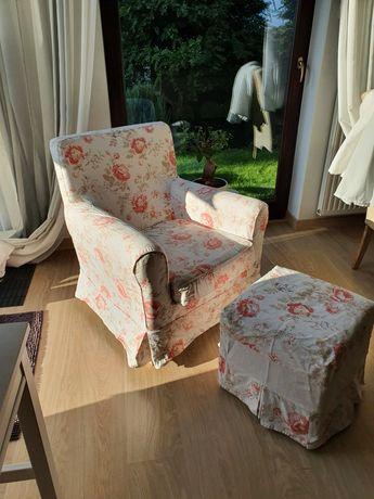 Fotel Ikea plus pufa