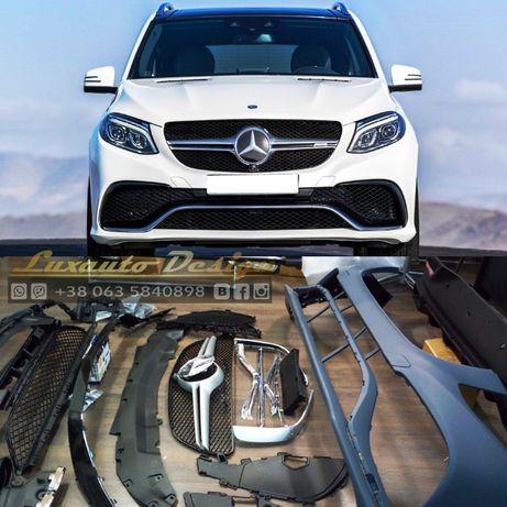 Обвес AMG 63 Mercedes GLE GLE coupe C292 X166 диффузор бампер спойлер