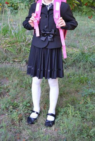 Школьная форма на рост 122 Сарафан, пиджак Шкільна форма платье Бант