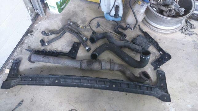 Alfa Romeo 159 slizg zderzaka tyl rura turbo czujnik dpf zbiornik spry