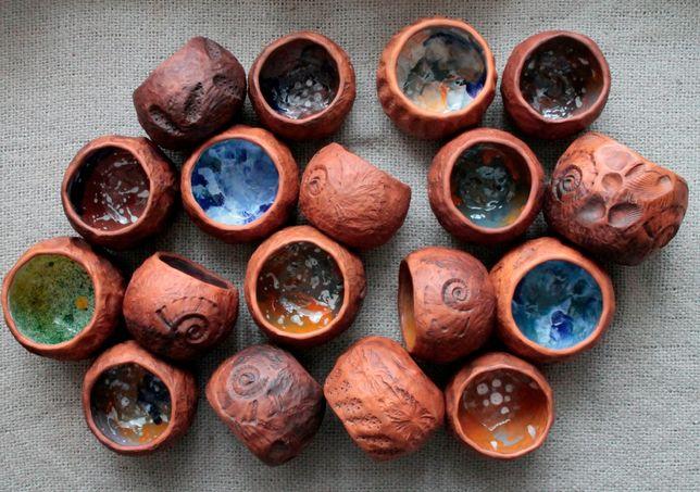стакан посуда из глины чашка глиняная керамика подарок