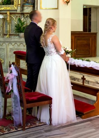 Sukienka Suknia ślubna Rozmiar 38-40 Ciążowa