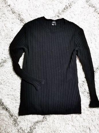Czarny sweter smog new yorker slim fit xxl grunge rockowy