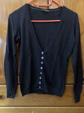 Cardigan casaco malha Decenio Castanho S