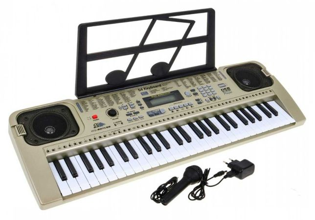 Keyboard MQ-807 USB z zasilaczem i mikrofonem