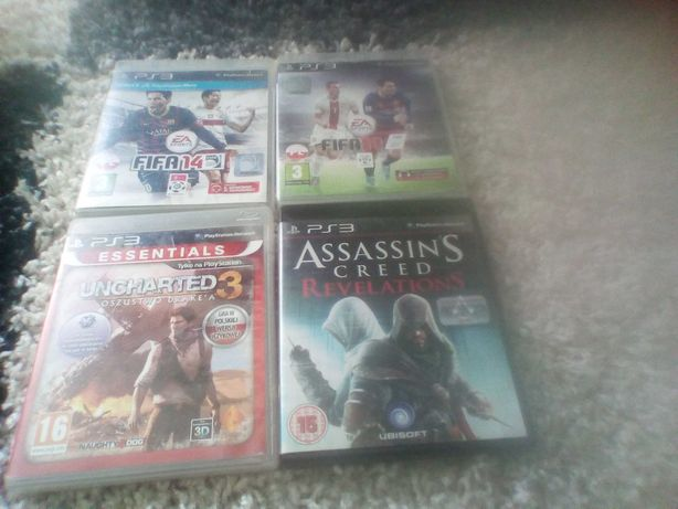 Gry na ps3 FIFA, Uncharted 3, Assassin's Creed revelations