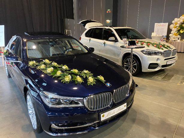 Auto do ślubu BMW 750 LANG VIP LIMUZYNA Atrament PERŁA
