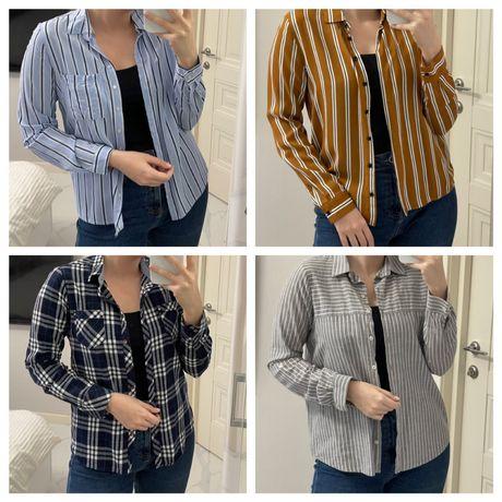 Женские рубашки S-M по 150 грн