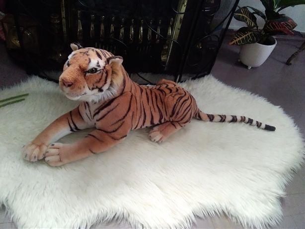 Tygrys duża maskotka, dł. 60cm+ogon 35cm