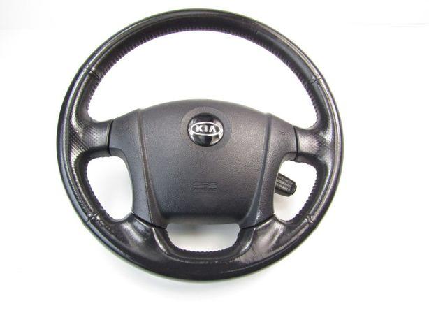 Kia Sportage II 07r kierownica skóra skórzana airbag