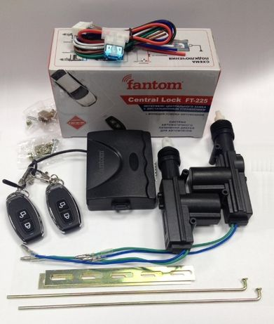 Центральный замок Fantom для авто комплект с дистанционным управлением