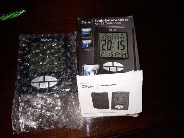 zegar radiowy DCF 32 strefy czasowe ,termometr