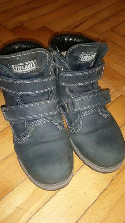 Ботинки турецкие черевики зимові  tiflani 34р шкіряні, цигейка .