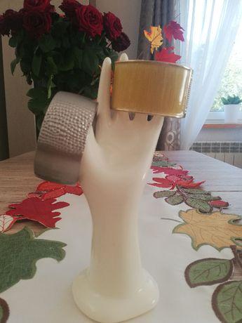 Złota miodowa szeroka bransoletka bransoleta