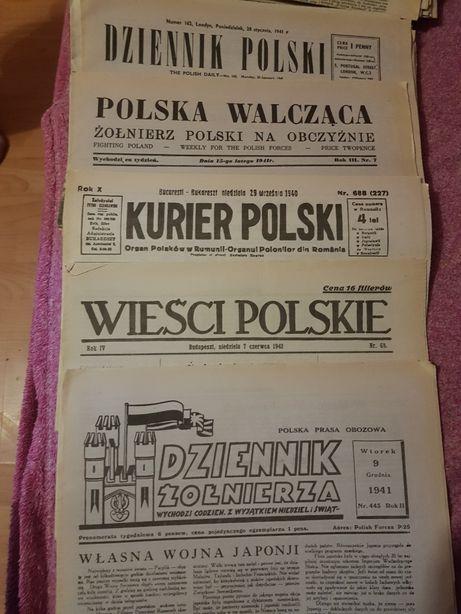 Stare gazety z okresu wojny lata 40te