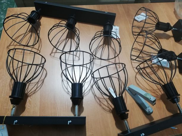 Lampa loft metalowa druciaki nowe
