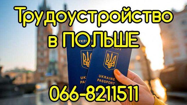 ЛЕГАЛЬНОЕ (имеем лицензию) трудоустройство в Польше