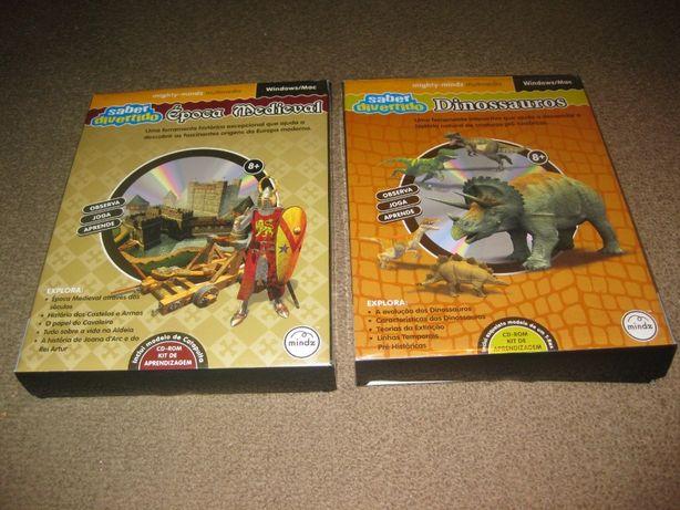 """2 Packs """"Saber Divertido"""" Época Medieval e Dinossauros/Embalado!"""