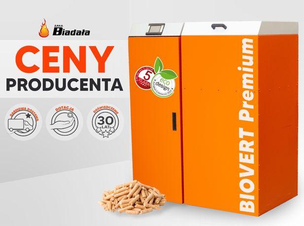 Kocioł na pellet Biovert Premium 21kW Powierzchnia grzewcza: do 200m2