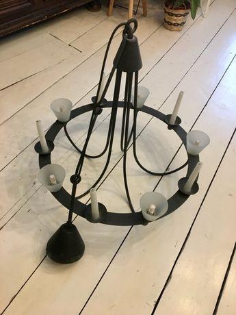 Żyrandol ze świecami IKEA, metalowy