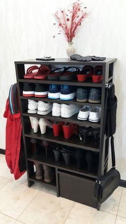 Полка для обуви с табуретом,этажерка,стелаж,вешалка.