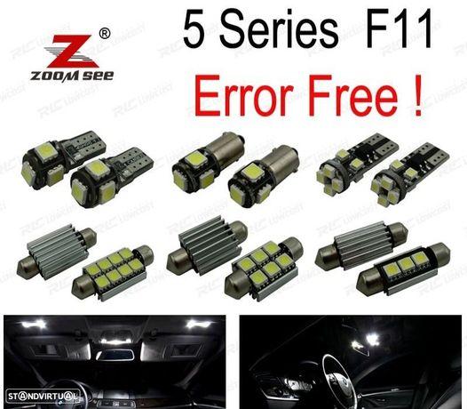 KIT COMPLETO DE 21 LÂMPADAS LED INTERIOR PARA BMW 5 SERIE F11 WAGON TOURING 520D 525D 530D 535D 528