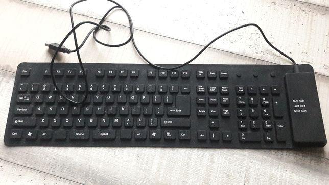 Silikonowa klawiatura USB wodoodporna CZARNA *NOWA*