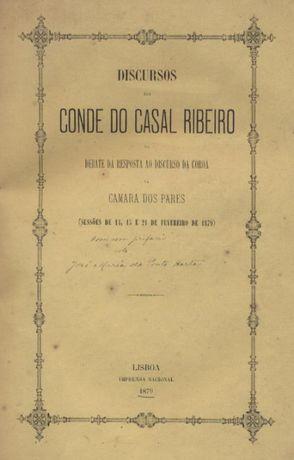 Discursos do Conde do Casal Ribeiro - Debate da resposta ao discurso