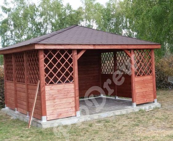 Altana Ogrodowa Wiata drewniana Producent 4x4, 4x3, 3x3 montaż GRATIS