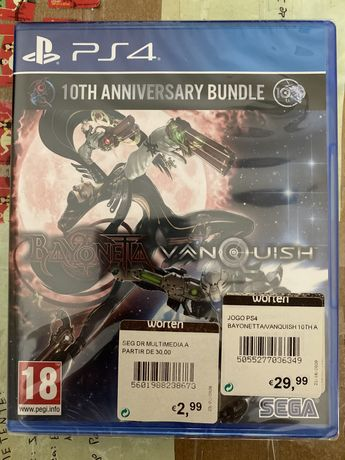 Bayonetta Vanquish 10th Anniversary Bundle PS4 [Novo/Selado]