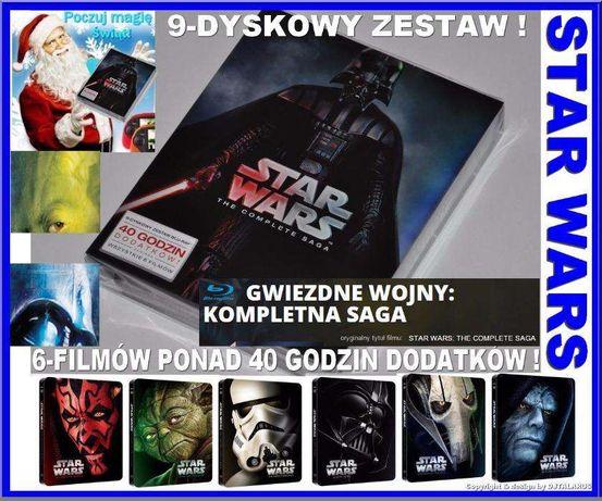 Nowy zestaw STAR WARS Gwiezdne Wojny Cała Saga 9-dy Blu-Ray na PREZENT