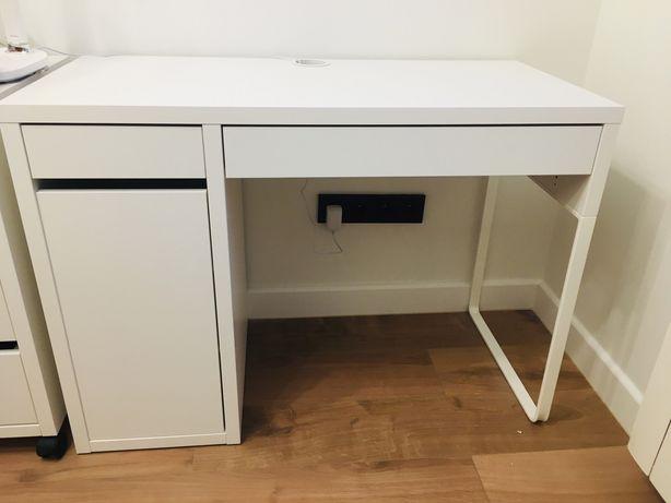 Ikea nowoczesne biurko z szafką 105x50x75 micke