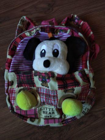 Детский рюкзак с мягкой игрушкой