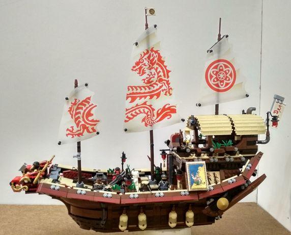NindjaGo Летающий корабль Мастера Ву. Аналог Lego 70618.