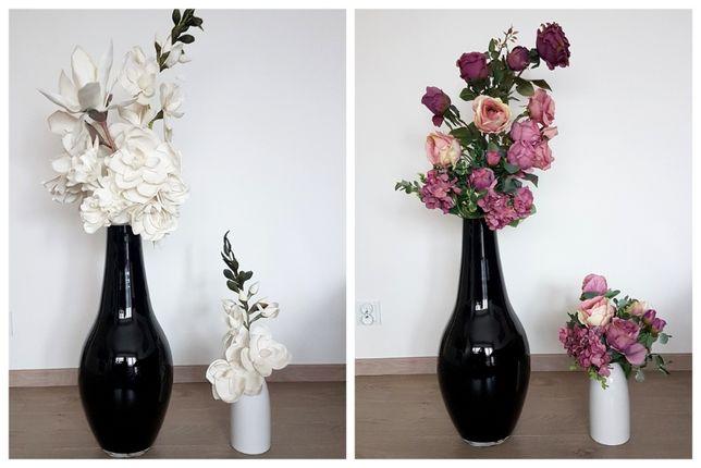 Kwiaty sztuczne, dwa komplety