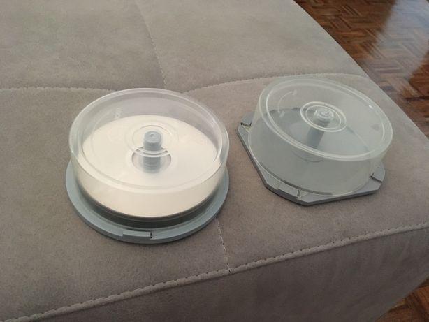 10 DVDs graváveis 4,7 GB e CDs graváveis 700 MB + caixas