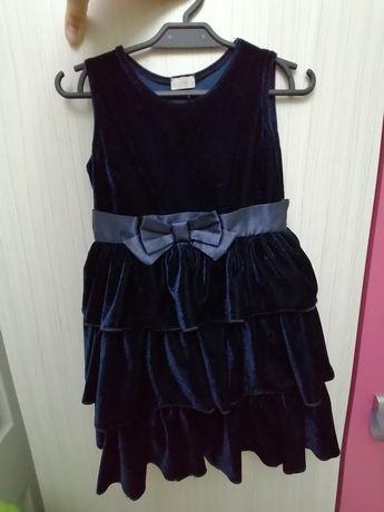 Sukienka elegancka granatowa 98/104