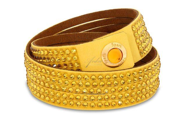 ankabizuteria.pl Oryginalna biżuteria: Bransoletka Swarovski żółta