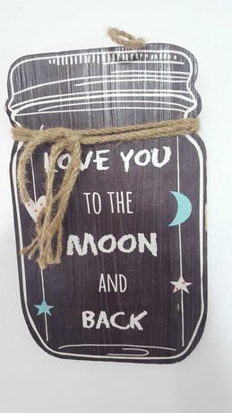 Quadro Love You to the moon and back
