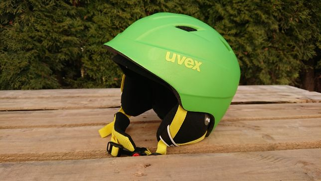 $ Kask UVEX Airwing 2 Pro 52-54cm zielony narty snowboard
